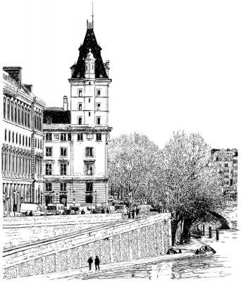 Fototapeta Paryż - widok z mostu Pont Neuf