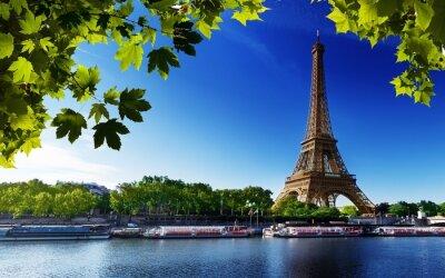 Fototapeta Paryż Wieża Eiffla Francja River Beach drzew