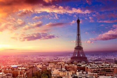 Fototapeta Paryż Wieża Eiffla i panorama z lotu ptaka Francja