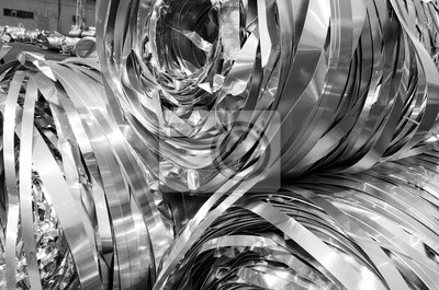 Fototapeta Paski aluminiowe stopić