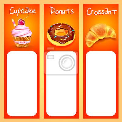 pasku menu dla słodkiej