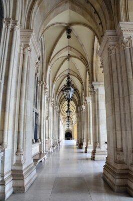 Fototapeta Passage avec arkady, Rathaus de Vienne
