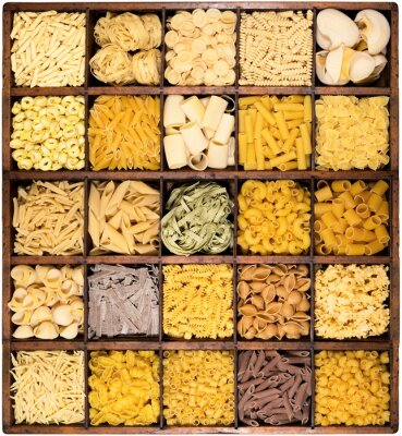 Fototapeta pasta italiana w bacheca