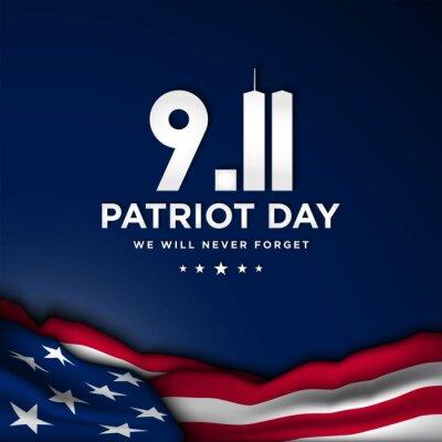 Fototapeta Patriot Day Background Design. Vector Illustration.