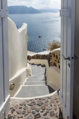 Fototapeta Patrząc przez drzwi do Morza Śródziemnego