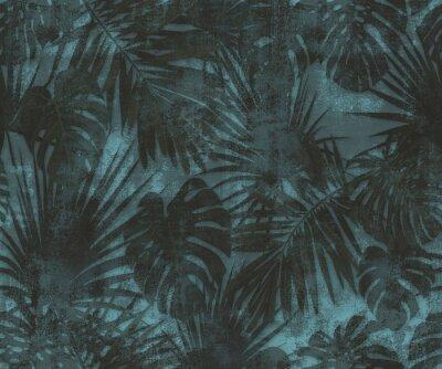 Fototapeta pattern wallpaper with leaves  palm tree texture