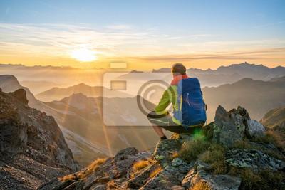 Fototapeta Pause in den Bergen