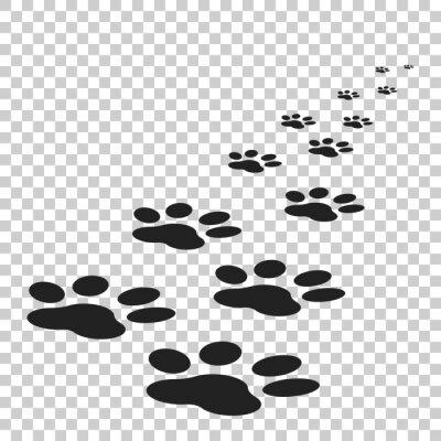 Fototapeta Paw Ikona drukowania ilustracji wektorowych samodzielnie na białym tle. Pies, kot, niedźwiedzia łapa płaska symbolu piktogram.