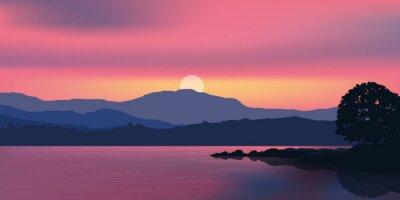 Fototapeta Paysage-Coucher de soleil-Montagne