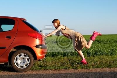 Pchanie samochodu