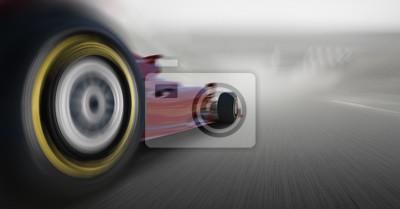 Fototapeta pędzącego samochodu Formuły