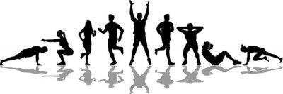 Fototapeta People Fitness Workout Silhoutte