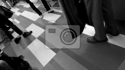 Fototapeta Persone in coda - attesa
