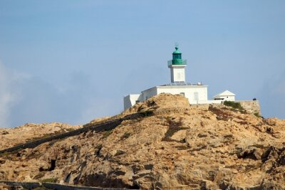 Fototapeta Phare de la Pietra à l'Ile Rousse ( Haute-Corse )
