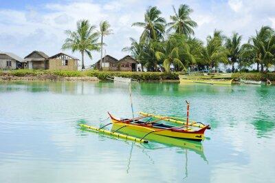 Fototapeta Philippines fishermans village