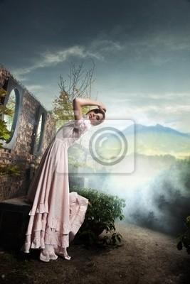 Photo style Fantasy młodego piękna brunetka