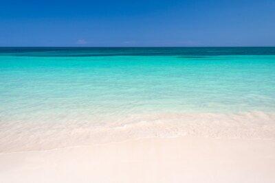 Fototapeta Piasek i Morze Karaibskie tle