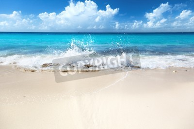 Fototapeta piasek na plaży Morze Karaibskie