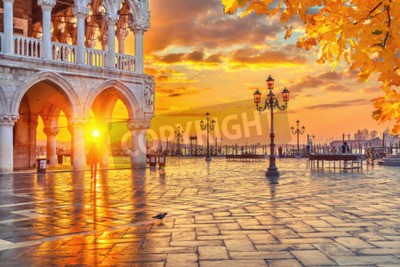 Fototapeta Piazza San Marco o świcie, Vinice, Włochy