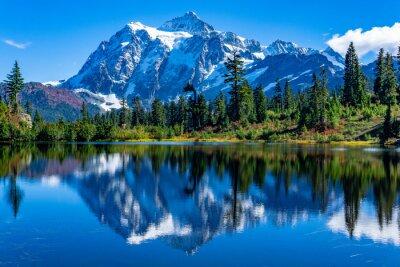 Fototapeta Picture Lake Reflection of Mount Shuksan