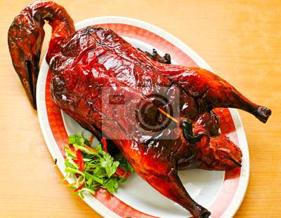 Fototapeta Pieczona Kaczka Kuchnia Chinska Tradycyjna Na Wymiar