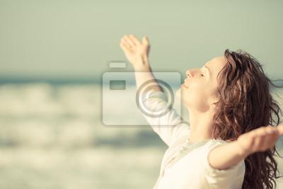 Fototapeta Piękna kobieta korzystających z życia