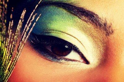 Fototapeta Piękna kobieta z artystycznego oka makijaż.