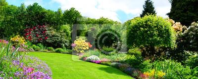 Fototapeta piękna panorama ogrodu
