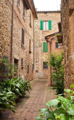Fototapeta Piękna ulica Pienza, Toskania
