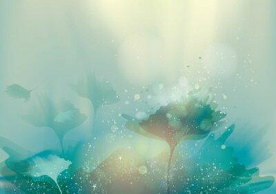 Fototapeta Piękne abstrakcyjna krajobraz / Magia kwiatów w tle