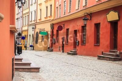 Fototapeta Piękne centrum miasta Lublin ulica, Polska