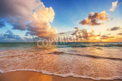 Fototapeta Piękne Chmura nad Morze Karaibskie, świt strzał