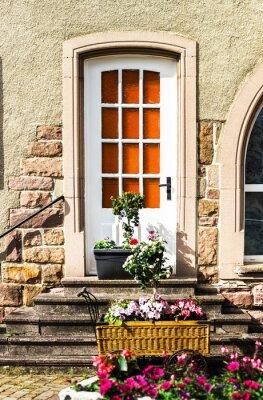 Fototapeta Piękne elementy dekoracyjne Alzacji ulicach