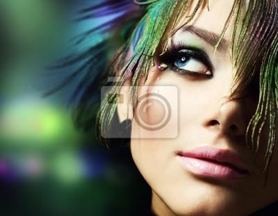 Fototapeta Piękne Fashion Woman Face.Perfect Makeup