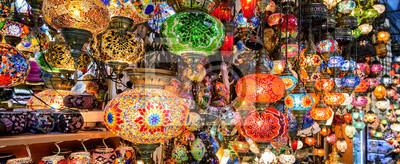 Fototapeta Piękne lampy w Grand Bazaar, Stambuł, Turcja