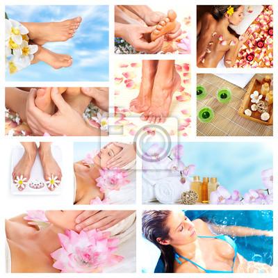 Piękne Masaż Spa collage.