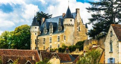 Fototapeta Piękne romantyczne zamki z doliny Loary - zamek Montresor. Francja