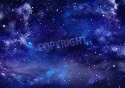 Fototapeta piękne tło na nocnym niebie
