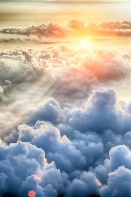 Fototapeta Piękne tło niebieskie niebo