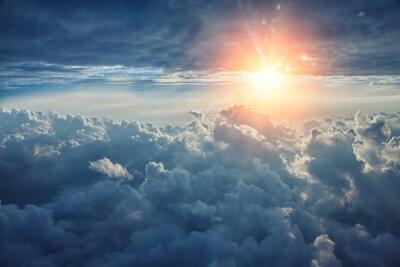 Fototapeta Piękne tło niebieskie niebo z chmurami