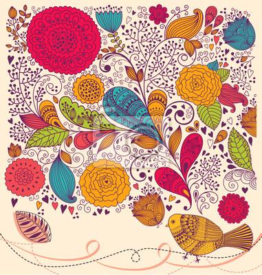 Piękne wektor kwiatów kolorowe tło