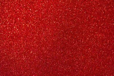 Fototapeta Pięknej czerwonej błyskotliwości makro- abstrakcjonistyczny tło z bokeh