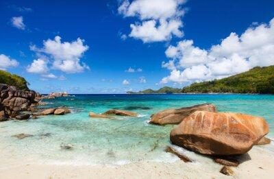 Fototapeta Pięknej plaży na Seszelach