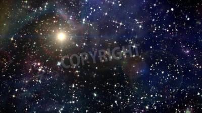 Fototapeta Piękno nocnego nieba z gwiazdą tła w przestrzeni kosmicznej