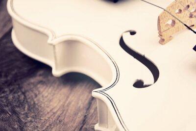 Fototapeta Piękny biały skrzypce
