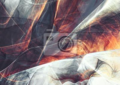 Piękny dym z efektem oświetlenia. Streszczenie szarym i czerwonym tle koloru. Dynamiczne malowanie tekstury. Nowoczesny futurystyczny wzór. Fraktalna grafika do kreatywnego projektowania graficznego
