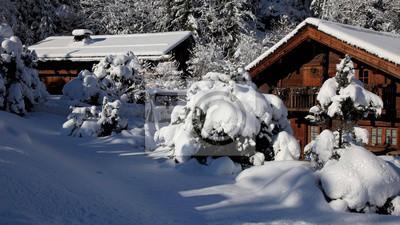 Piękny górski śnieg