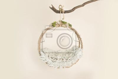 Fototapeta Piękny kwiat tło dla noworodka, koncepcja noworodka.