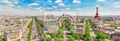 Fototapeta Piękny panoramiczny widok na Paryż z dachu triumfalnego