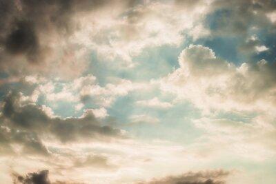Fototapeta Piękny poranek niebo z chmurami, na zewnątrz, charakter